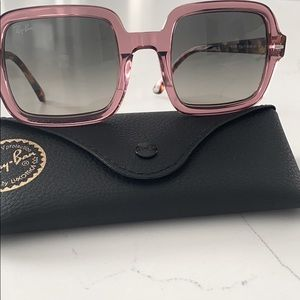 Authentic Ray Ban 53mm Gradient Square Sunglasses